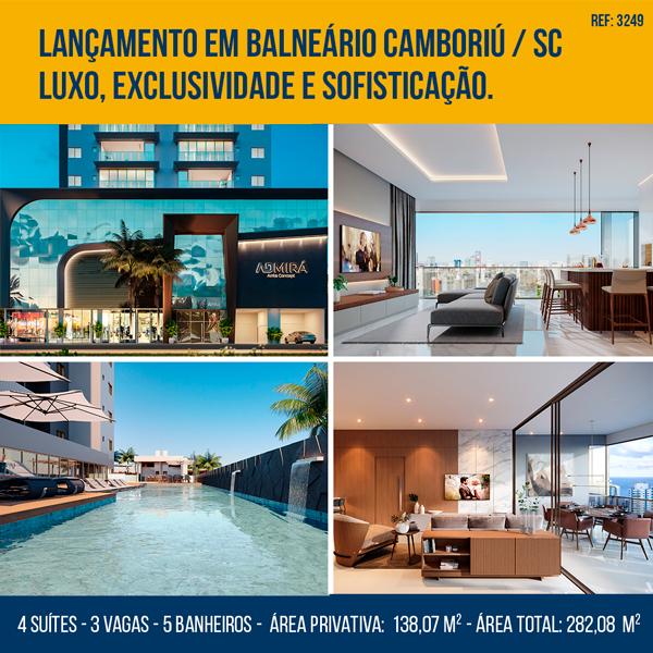 Apartamento no Edifício Admirá Arrka Concept em Balneário Camboriú