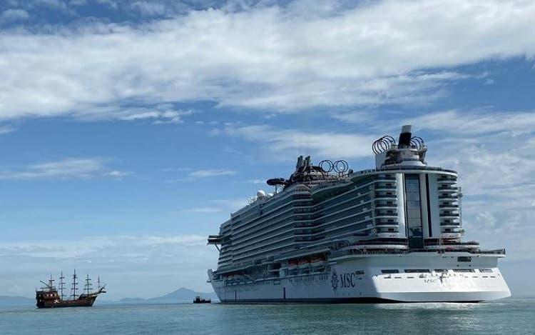 Navio MSC Seaview chega a Balneário Camboriú (foto: Divulgação)